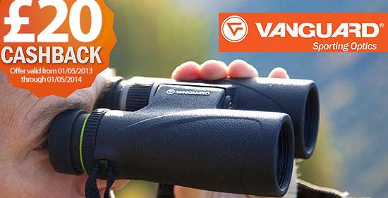 £20 Cashback on Vanguard Spirit ED & Endeavor ED Binoculars