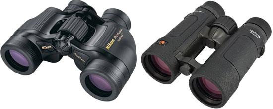 Porro or roof prism binoculars