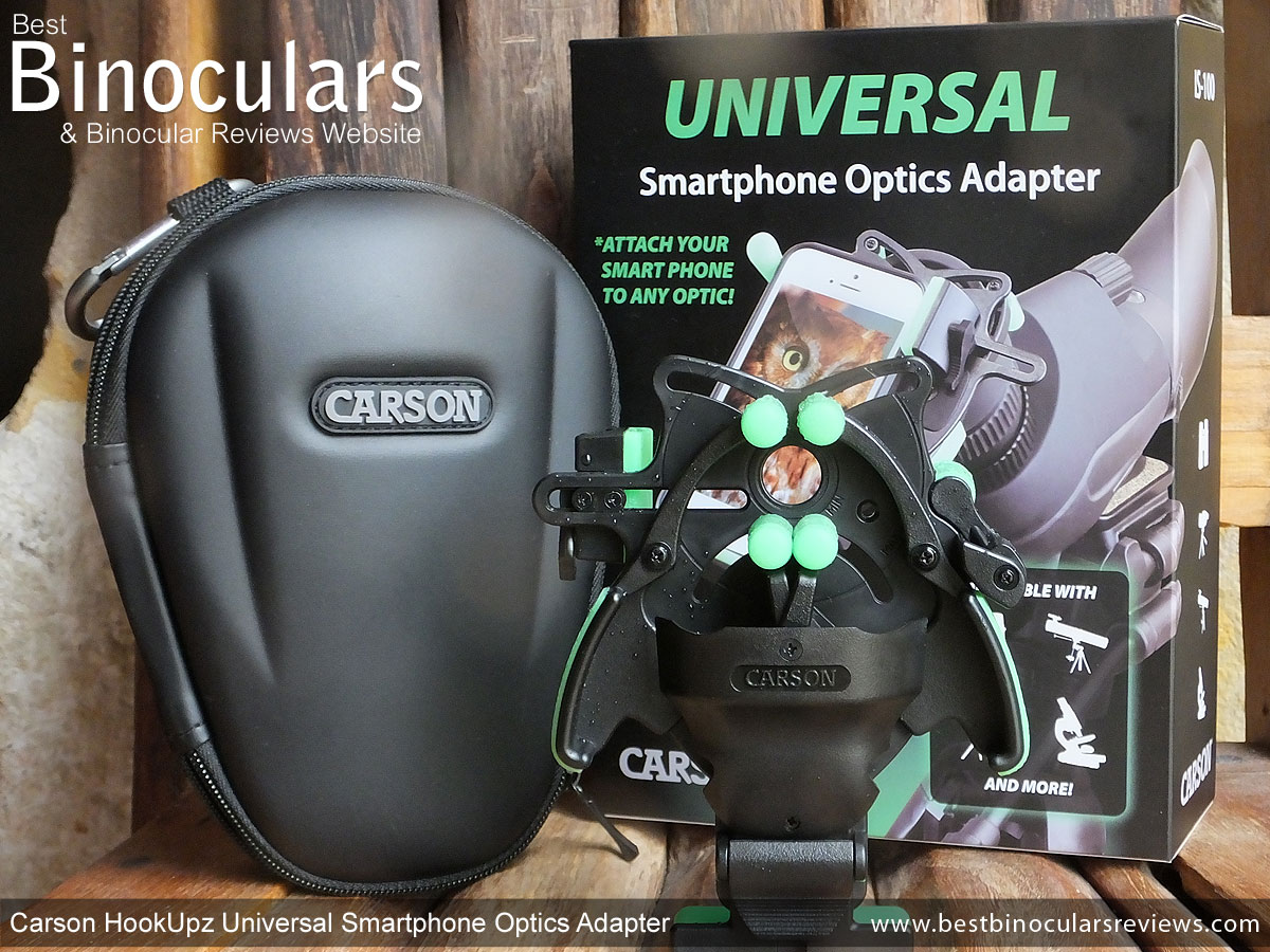 Carson HookUpz Smartphone Telescope Adapter Instructions For Use Manual