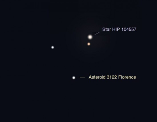 Asteroid 3122 Florence on August 30 at 1140pm CDT
