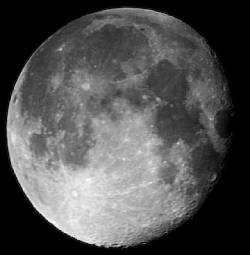 Viewing the Waning Gibbous Moon with Binoculars