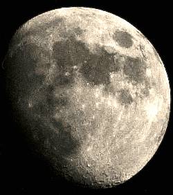 Viewing the Waxing Gibbous Moon with Binoculars