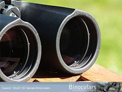 Lenses deeply inset on the Carson 10x42 3D Binoculars