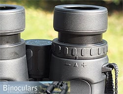 The eyecups and diopter adjustment ring on the Celestron Granite 8x42 Binoculars