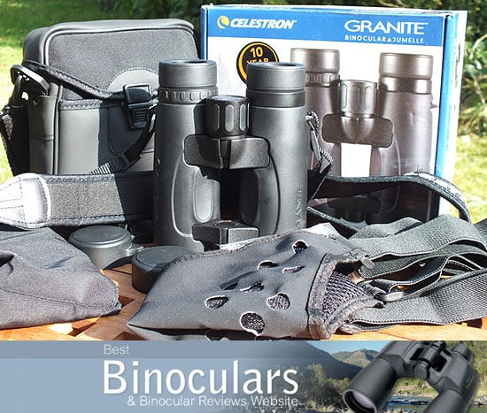 Celestron Granite 8x42 Binoculars with neck strap, carry case and Harness