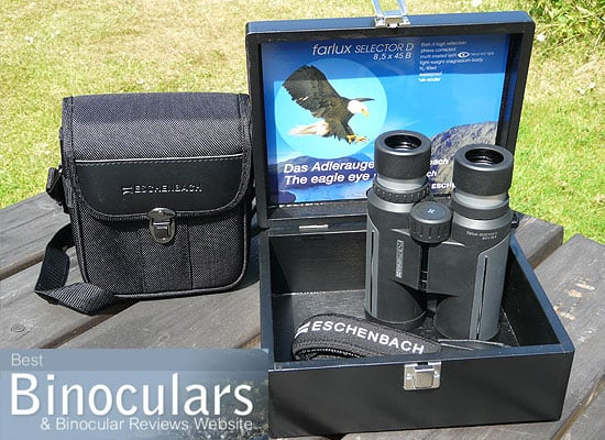 Eschenbach farlux Selector D 8.5x45 Binoculars including carry case and display box
