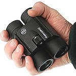 Hawke Frontier Phase Corrected Compact Binoculars folded in the hand