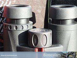 Eyecups and diopter adjustment ring on the Kowa SV 8x32 Binoculars