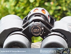 Focussing wheel on the Kowa YF 8x30 Binoculars
