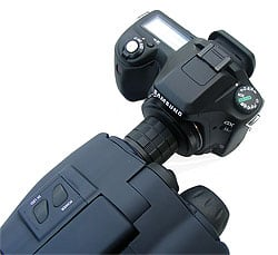Luna Optics LN-SB50 attached to a digital SLR camera