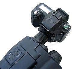 Luna Optics LN-SB50 attached to a digital SLR camera