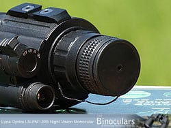 Lens Cover on the Luna Optics LN-EM1-MS Night vision monocular