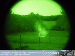 View through the Luna Optics LN-EM1-MS Night vision monocular