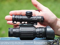 The palm-sized Luna Optics LN-EM1-MS Night vision monocular