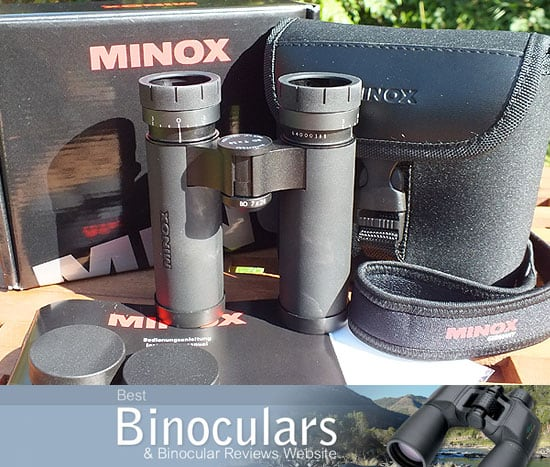 MINOX BD 7x28 IF Binoculars with carry case and neck strap