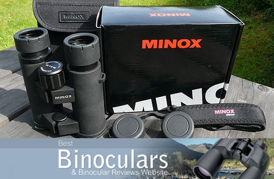 Minox BL 8x33 Binoculars including carry case and neck strap
