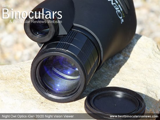 The lens on the iGen 20/20 Night Vision Viewer