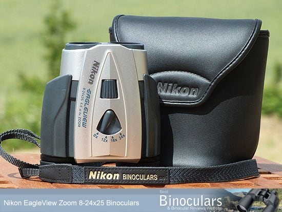 Nikon 8-24x25 EagleView Zoom binoculars with carry case and neck strap