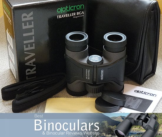 Opticron Traveller BGA Mg 10x32 binoculars with carry case and neck strap
