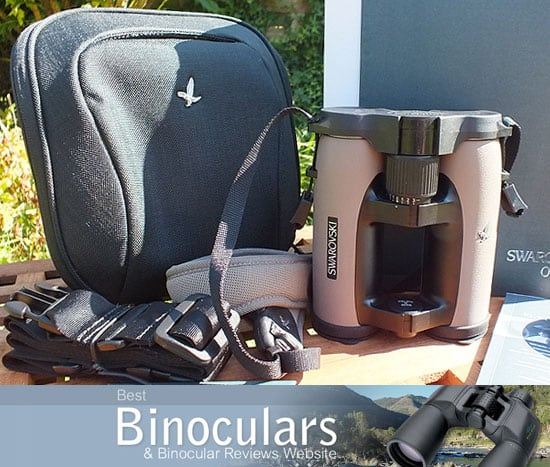 Swarovski EL 8x32 W B Traveler binoculars with carry case and neck strap
