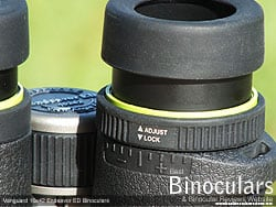 Diopter adjustment on the Vanguard Endeavor ED 10x42 Binoculars