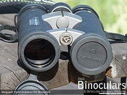 Objective Lens Covers on the Vanguard Endeavor ED 10x42 Binoculars
