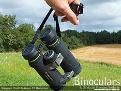 Strap on the Vanguard Endeavor ED 10x42 Binoculars