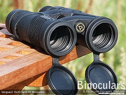 Objective Lens Covers on the Vanguard Spirit XF 10x42 Binoculars