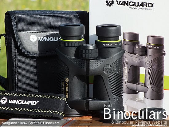 Vanguard Spirit XF 10x42 Binoculars with neck strap, case and Lens Covers