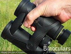 Secure grip with the open bridge design on the Vanguard Spirit XF 10x42 Binoculars