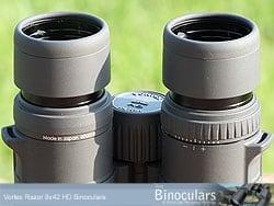 The Lockable Diopter Adjustment on the Vortex Razor 8x42 HD Binoculars