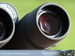 The eyecups on the Vortex Razor 8x42 HD Binoculars