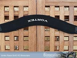Curved Neck strap on the Vortex Razor HD binoculars