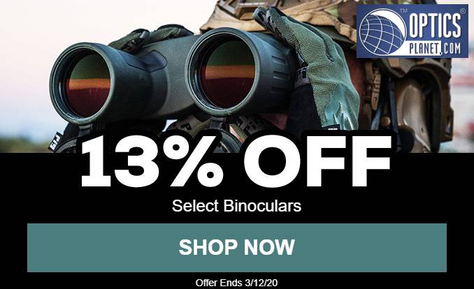 13% OFF Selected Binoculars at Optics Planet