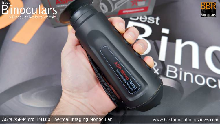 Holding the AGM Asp-Micro TM160 Thermal Imaging Monocular