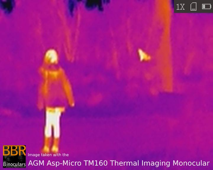 Sample Photo taken with the AGM Asp-Micro TM160 Thermal Imaging Monocular at Night