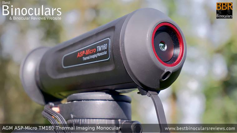AGM Asp-Micro TM160 Thermal Imaging Monocular mounted on a Tripod