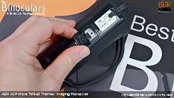 USB port on the AGM Asp-Micro TM160 Thermal Imaging Monocular