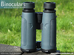 Underside of the Athlon Ares 10x42 Binoculars