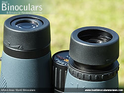 Eyecups on the Athlon Ares 10x42 Binoculars