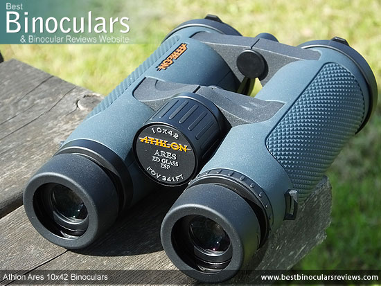 Focus Wheel on the Athlon Ares 10x42 Binoculars