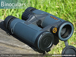 Objective Lens Covers on the Athlon Ares 10x42 Binoculars