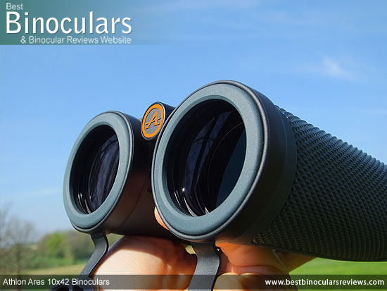 42mm objective lenses on the Athlon Ares 10x42 Binoculars