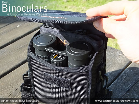 Inside the Athlon Argos 8x42 Binoculars Carry Case