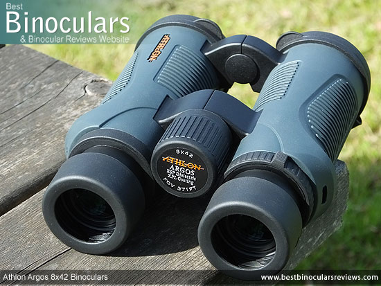 Focus Wheel on the Athlon Argos 8x42 Binoculars