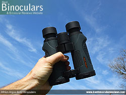 Open bridge design on the Athlon Argos 8x42 Binoculars