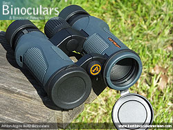 Objective Lens Covers on the Athlon Argos 8x42 Binoculars