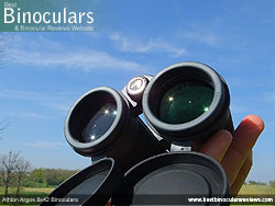 Reverse view through the Athlon Argos 8x42 Binoculars