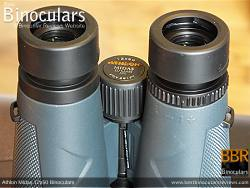Diopter adjustment on the Athlon Midas 12x50 Binoculars