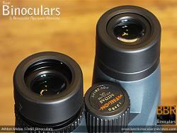 Eyecups on the Athlon Midas 12x50 Binoculars